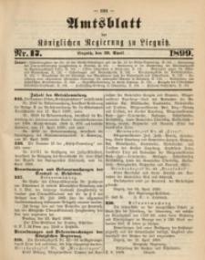Amts-Blatt der Königlichen Regierung zu Liegnitz, 1899, Jg. 89, Nr. 17