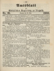 Amts-Blatt der Königlichen Regierung zu Liegnitz, 1900, Jg. 90, Nr. 21