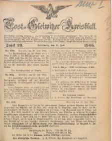 Tost-Gleiwitzer Kreisblatt, 1905, Jg. 63, St. 29