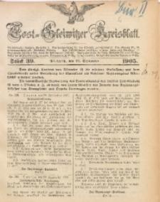 Tost-Gleiwitzer Kreisblatt, 1905, Jg. 63, St. 39