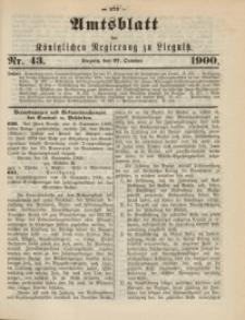 Amts-Blatt der Königlichen Regierung zu Liegnitz, 1900, Jg. 90, Nr. 43