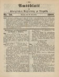 Amts-Blatt der Königlichen Regierung zu Liegnitz, 1900, Jg. 90, Nr. 50
