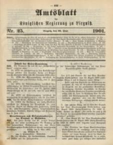 Amts-Blatt der Königlichen Regierung zu Liegnitz, 1901, Jg. 91, Nr. 25