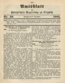 Amts-Blatt der Königlichen Regierung zu Liegnitz, 1901, Jg. 91, Nr. 49