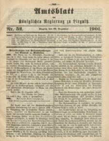 Amts-Blatt der Königlichen Regierung zu Liegnitz, 1901, Jg. 91, Nr. 52