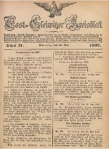 Tost-Gleiwitzer Kreisblatt, 1907, Jg. 65, St. 21