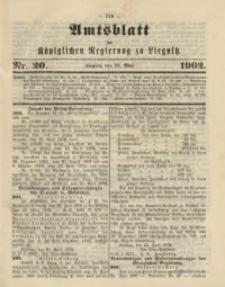 Amts-Blatt der Königlichen Regierung zu Liegnitz, 1902, Jg. 92, Nr. 20