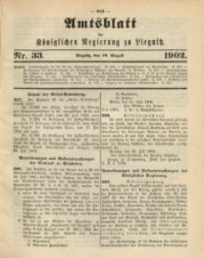 Amts-Blatt der Königlichen Regierung zu Liegnitz, 1902, Jg. 92, Nr. 33