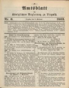 Amts-Blatt der Königlichen Regierung zu Liegnitz, 1903, Jg. 93, Nr. 6