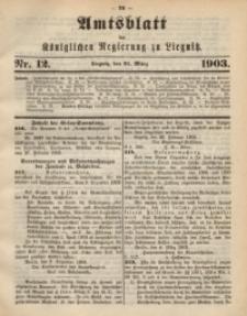 Amts-Blatt der Königlichen Regierung zu Liegnitz, 1903, Jg. 93, Nr. 12