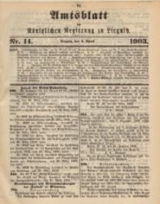 Amts-Blatt der Königlichen Regierung zu Liegnitz, 1903, Jg. 93, Nr. 14