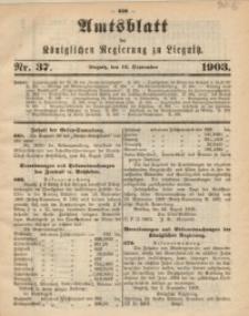 Amts-Blatt der Königlichen Regierung zu Liegnitz, 1903, Jg. 93, Nr. 37