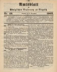 Amts-Blatt der Königlichen Regierung zu Liegnitz, 1903, Jg. 93, Nr. 49