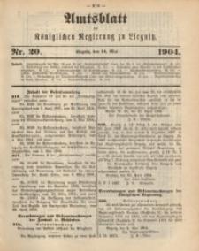 Amts-Blatt der Königlichen Regierung zu Liegnitz, 1904, Jg. 94, Nr. 20