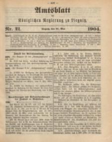 Amts-Blatt der Königlichen Regierung zu Liegnitz, 1904, Jg. 94, Nr. 21