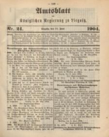 Amts-Blatt der Königlichen Regierung zu Liegnitz, 1904, Jg. 94, Nr. 24