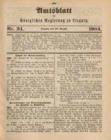 Amts-Blatt der Königlichen Regierung zu Liegnitz, 1904, Jg. 94, Nr. 34