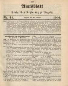 Amts-Blatt der Königlichen Regierung zu Liegnitz, 1904, Jg. 94, Nr. 44