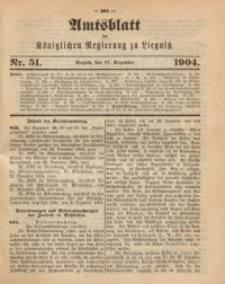 Amts-Blatt der Königlichen Regierung zu Liegnitz, 1904, Jg. 94, Nr. 51