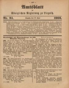 Amts-Blatt der Königlichen Regierung zu Liegnitz, 1905, Jg. 95, Nr. 24