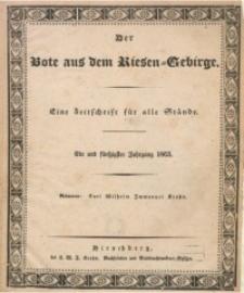 Der Bote aus dem Riesen-Gebirge, 1863, Jg. 51, Nr. 1