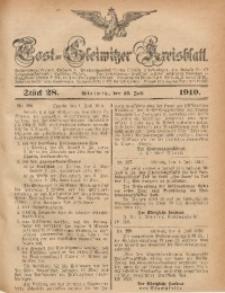 Tost-Gleiwitzer Kreisblatt, 1910, Jg. 68, St. 28