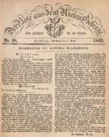 Der Bote aus dem Riesen-Gebirge, 1863, Jg. 51, Nr. 28