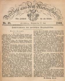Der Bote aus dem Riesen-Gebirge, 1863, Jg. 51, Nr. 48