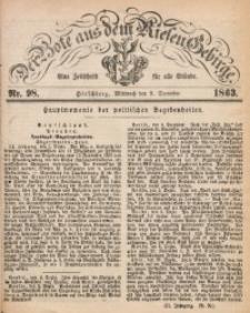 Der Bote aus dem Riesen-Gebirge, 1863, Jg. 51, Nr. 98