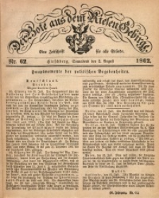 Der Bote aus dem Riesen-Gebirge, 1862, Jg. 50, Nr. 62