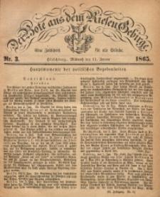 Der Bote aus dem Riesen-Gebirge, 1865, Jg. 53, Nr. 3