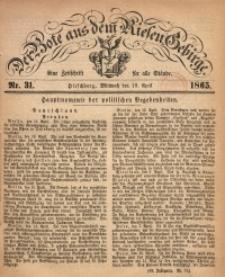 Der Bote aus dem Riesen-Gebirge, 1865, Jg. 53, Nr. 31