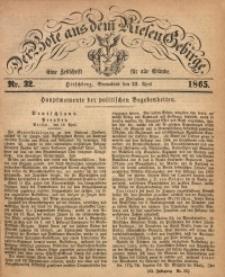 Der Bote aus dem Riesen-Gebirge, 1865, Jg. 53, Nr. 32