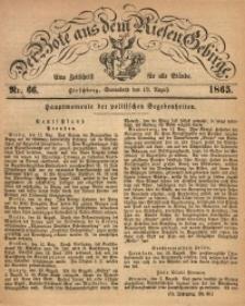 Der Bote aus dem Riesen-Gebirge, 1865, Jg. 53, Nr. 66