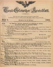 Tost-Gleiwitzer Kreisblatt, 1892, Jg. 50, St. 7