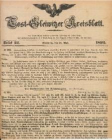 Tost-Gleiwitzer Kreisblatt, 1892, Jg. 50, St. 22