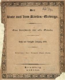 Der Bote aus dem Riesen-Gebirge, 1868, Jg. 56, Nr. 1