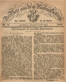 Der Bote aus dem Riesen-Gebirge, 1868, Jg. 56, Nr. 70