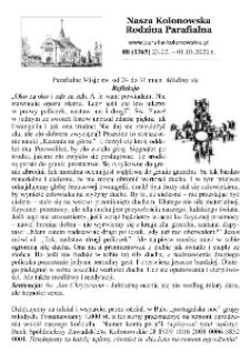Nasza Kolonowska Rodzina Parafialna 2020, nr 8 (1365).