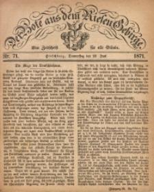 Der Bote aus dem Riesen-Gebirge, 1871, Jg. 59, Nr. 71