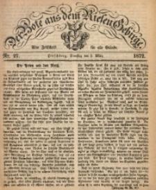Der Bote aus dem Riesen-Gebirge, 1872, Jg. 60, Nr. 27