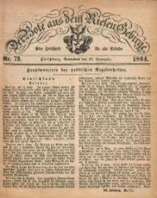 Der Bote aus dem Riesen-Gebirge, 1864, Jg. 52, Nr. 73