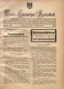 Tost-Gleiwitzer Kreisblatt, 1927, St. 45
