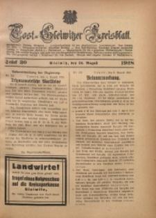 Tost-Gleiwitzer Kreisblatt, 1928, St. 30