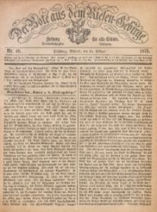 Der Bote aus dem Riesen-Gebirge, 1875, Jg. 63, Nr. 46