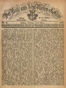 Der Bote aus dem Riesen-Gebirge, 1873, Jg. 61, Nr. 21