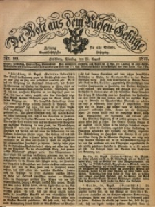 Der Bote aus dem Riesen-Gebirge, 1873, Jg. 61, Nr. 99