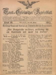 Tost-Gleiwitzer Kreisblatt, 1915, Jg. 73, St. 13