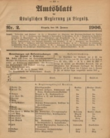 Amts-Blatt der Königlichen Regierung zu Liegnitz, 1906, Jg. 96, Nr. 2