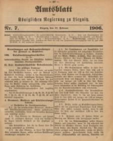 Amts-Blatt der Königlichen Regierung zu Liegnitz, 1906, Jg. 96, Nr. 7